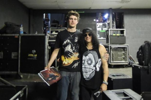 Fã caxiense de Slash fala da expectativa para show do Guns Arquivo pessoal/divulgação