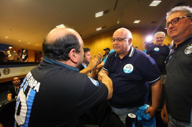 """José Augusto Barros: """"Boa sorte, presidente!"""" Lucas Uebel/Grêmio/Divulgação"""