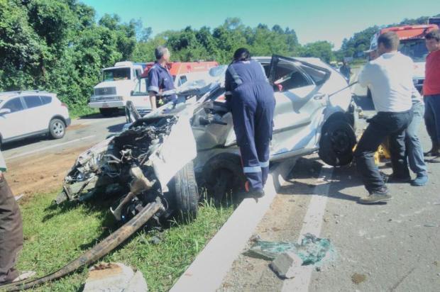 Família fica ferida em acidente na ERS-122, em Bom Princípio Gerson Leindecker/divulgação