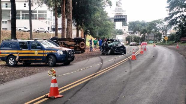 Jovem morre após acidente na BR-470, em Veranópolis PRF / divulgação/divulgação