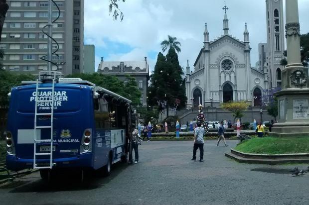 Guarda Municipal reforça segurança na Praça Dante Alighieri, em Caxias do Sul Guarda Municipal/Divulgação