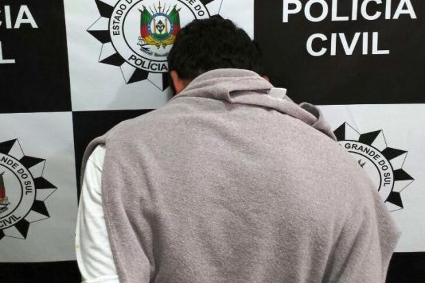 Homem é preso por agredir e subtrair bens de familiares em Canela Polícia Civil / Divulgação/Divulgação