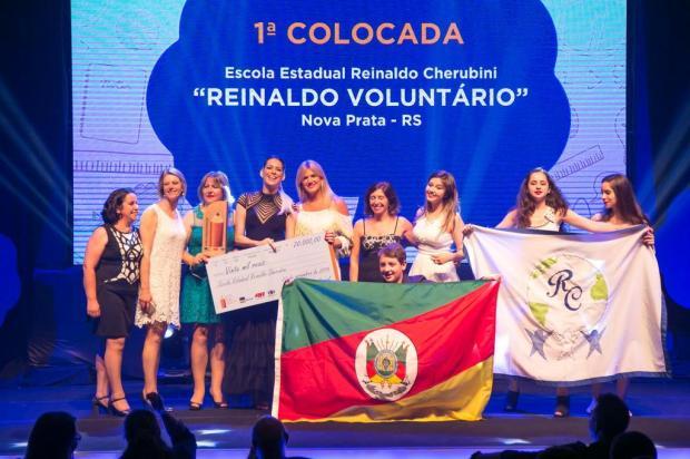 Escola de Nova Prata ganha prêmio nacional de voluntariado divulgação/Divulgação