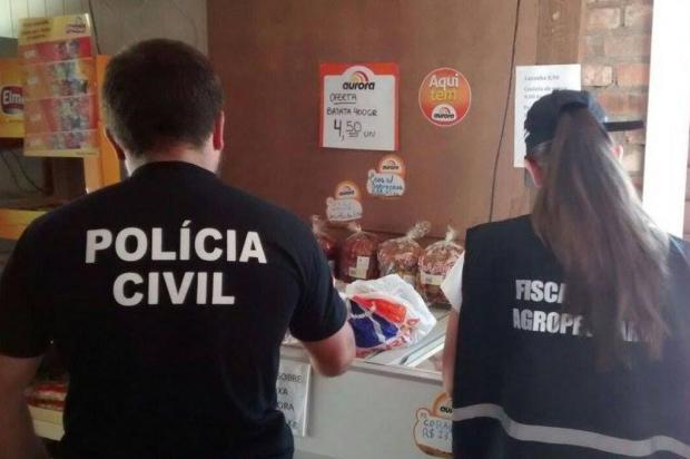 Carnes impróprias para o consumo são apreendidas em Vacaria Polícia Civil/Divulgação