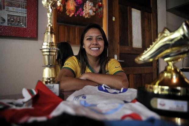 Conheça a trajetória de Diana, a jogadora caxiense campeã mundial com a seleção brasileira de futsal Marcelo Casagrande/Agencia RBS