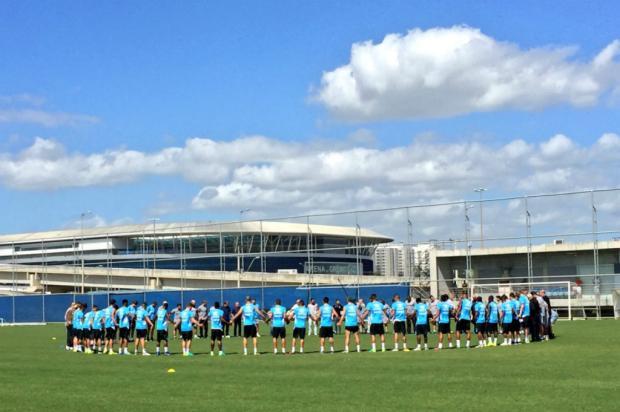 Grêmio faz homenagem à Chapecoense antes de treino Grêmio / Divulgação/Divulgação