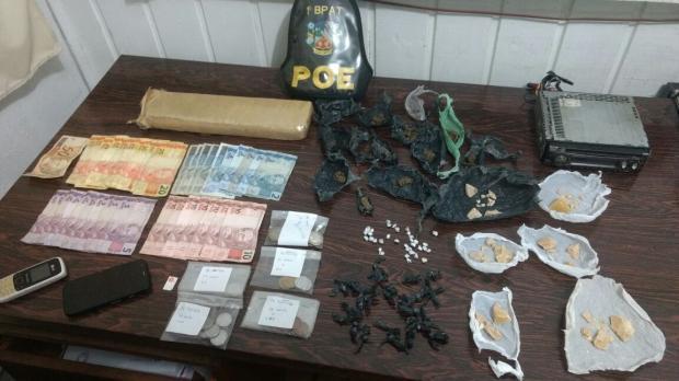 Homens são presos com maconha e crack em Cambará do Sul Brigada Militar / divulgação/divulgação
