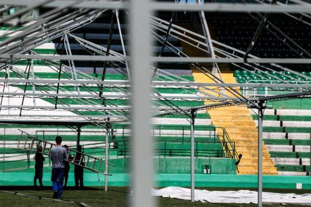 Velório coletivo na Arena Condá terá momento exclusivo para familiares Cristiano Estrela/Agencia RBS