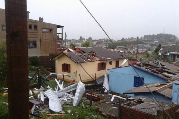 Cinco bairros de São Francisco de Paula foram destruídos pelo temporal Divulgação/