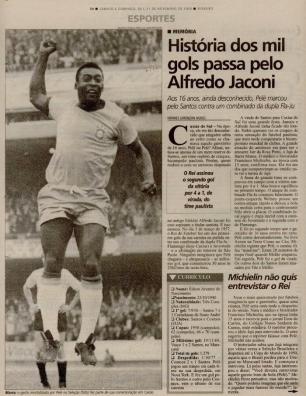 Memória: Pelé jogava em Caxias há 60 anos Pioneiro/Reprodução
