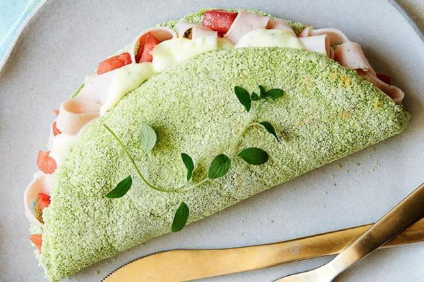 Faça tapioca de espinafre com recheio de iogurte Nestlé/Divulgação