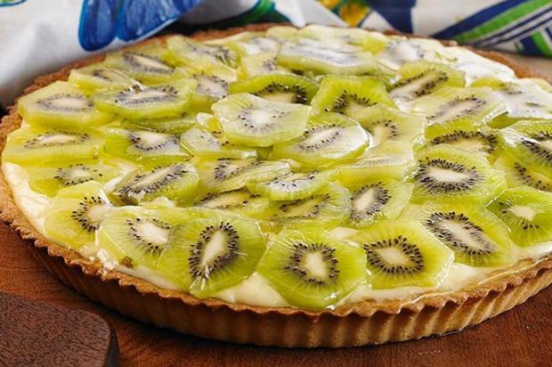 Faça uma deliciosa torta de kiwi Unilever/Divulgação