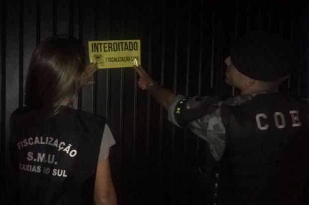 Blitz interdita quatro estabelecimentos comerciais em Caxias do Sul Fernanda Piva/Divulgação
