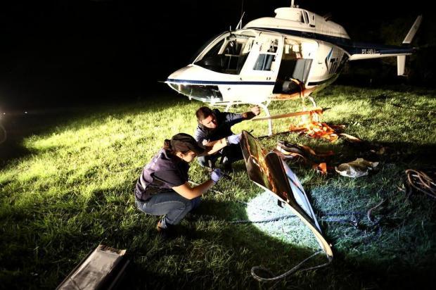 Criminosos sequestram helicópterode empresa de táxi aéreo de Canela Carlos Macedo/Agência RBS