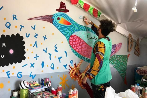 """3por4: Projeto brasileiro """"Conexus"""" leva arte e esperança a refugiados Divulgação/Divulgação"""