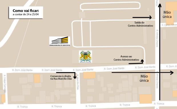 Trânsito mudará na Rua Alfredo Chaves em Caxias Reprodução / Prefeitura de Caxias do Sul/Prefeitura de Caxias do Sul