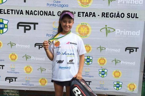 Amanda de Oliveira conquista segunda etapa da seletiva sul do Circuito Nacional de tênis Arquivo pessoal/Divulgação