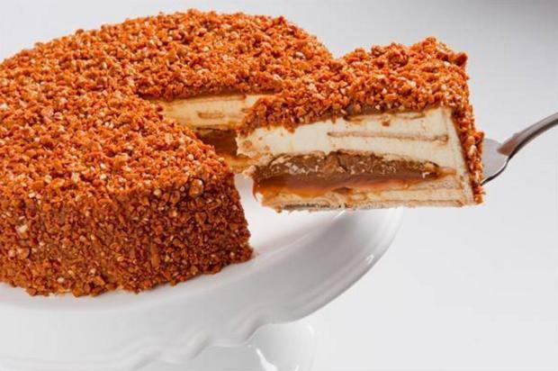 Façapavê crocante de doce de leite com castanha de caju Hulalá/Divulgação