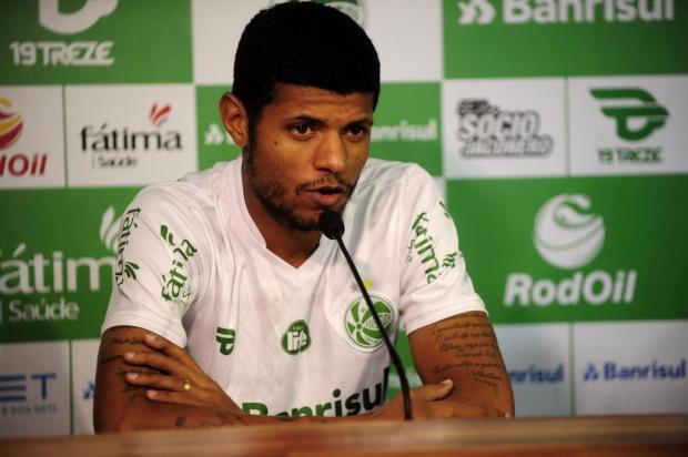Centroavante Tiago Marques é apresentado oficialmente pelo Juventude Marcelo Casagrande/Agencia RBS