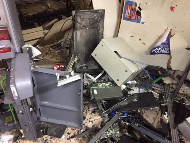 Criminosos explodem caixa eletrônico dentro de empresa em Vila Cristina, interior de Caxias Divulgação/Polícia Civil