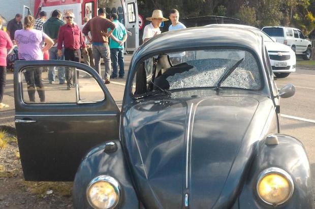 Motorista embriagado atropela idoso na BR-116 em São Marcos Polícia Rodoviária Federal/Divulgação