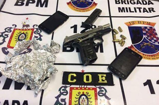 Ação da Brigada Militar apreende pistola e recupera Focus roubado em Caxias do Sul Brigada Militar / Divulgação/Divulgação