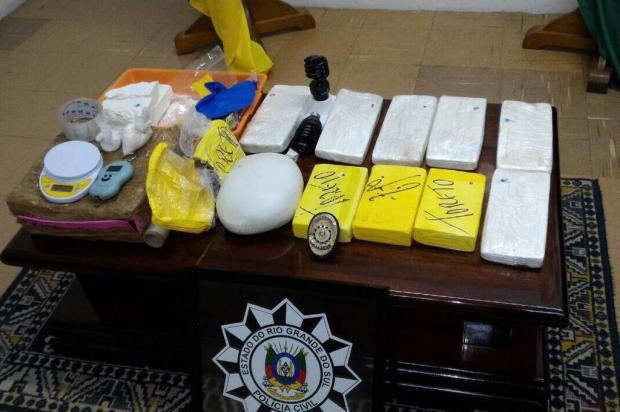 Polícia Civil apreende 12,6 quilos de cocaína em Bento Gonçalves Polícia Civil/Divulgação