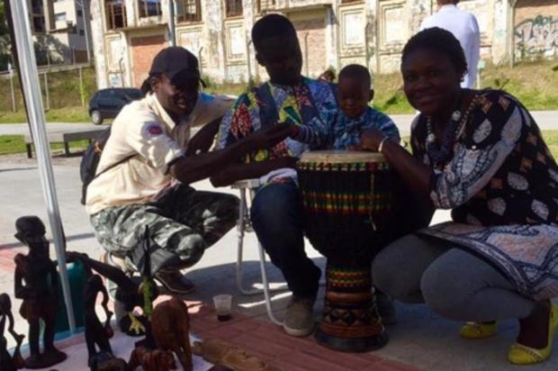 3por4: Coletivo de Caxias representa o Senegal na Feira do Imigrante, em São Paulo Cristiano Monteiro/Divulgação