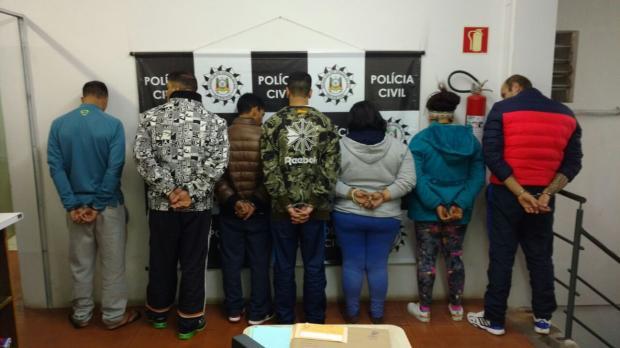 Sete pessoas são presas durante operação contra o tráfico de drogas em Farroupilha Polícia Civil  / Divulgação /Divulgação