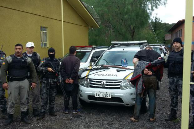 Brigada Militar captura últimos dois suspeitos de explosão em banco de Campestre da Serra Brigada Militar / Divulgação/Divulgação