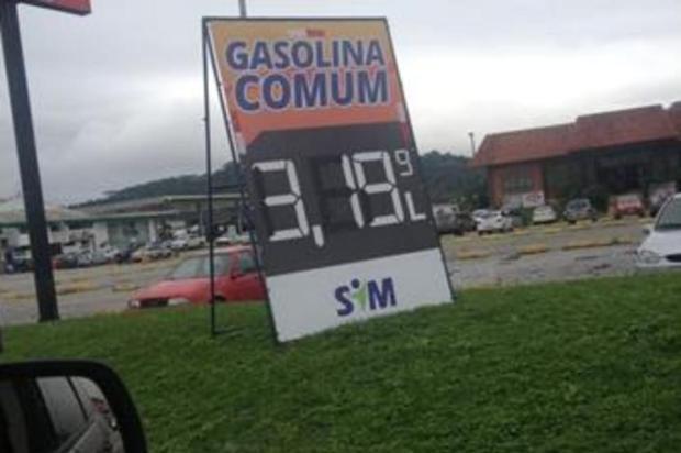 Gasolina em Itajaí (SC): R$ 3,19 Ivan Furlan/divulgação