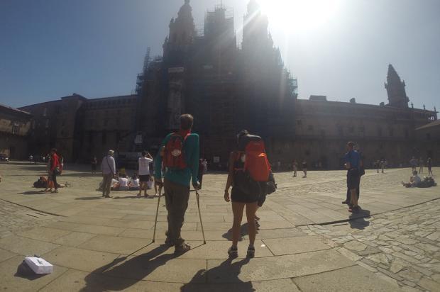 Um passo a mais: após 22 dias, peregrinos chegam a Santiago de Compostela Divulgação/