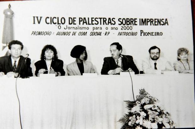 Memória: Celebridades da imprensa na UCS Mário André/Agencia RBS