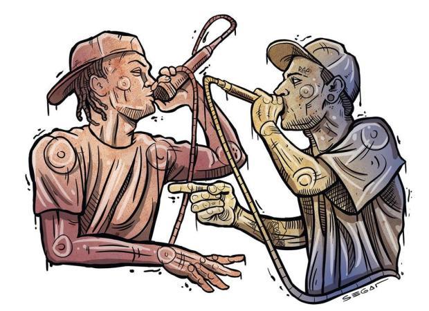 Batalha de poesia ocorre neste sábado, em Caxias Charles Segat/Ilustração