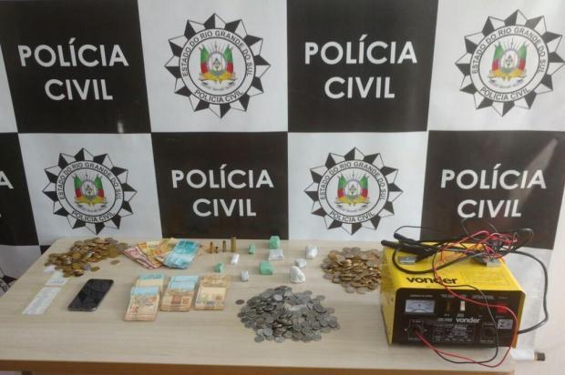 Homem investigado há seis meses é preso por tráfico em Farroupilha Polícia Civil de Farroupilha/Divulgação