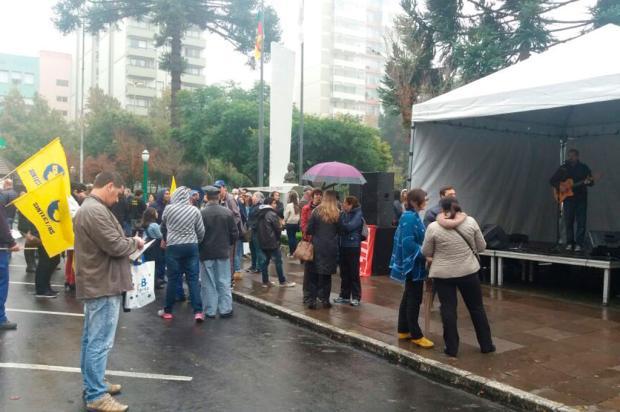 Sindicalistas protestam contra as reformas do governo Temer no centro de Caxias Alana Fernandes / Agência RBS/Agência RBS