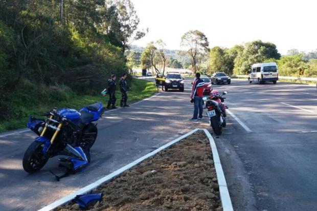 Motociclista fica ferido em acidente em Garibaldi PRF/Divulgação