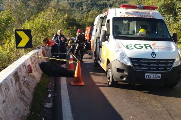 Motociclista morre em acidente, em Antônio Prado Bombeiros Voluntários de Antônio Prado/Divulgação