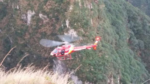 Jovem que caiu em cânion em São José dos Ausentes despencou de quase 80 metros Bombeiros de São Joaquim / Divulgação/Divulgação