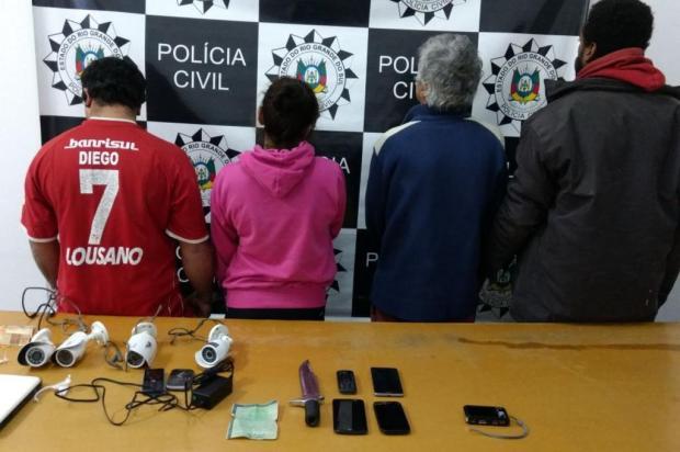 Três homens e uma mulher são presos durante a Operação Leão em Vacaria Polícia Civil/Divulgação