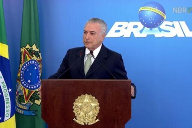Câmara dos Deputados autoriza investigação contra o presidente da República, Michel Temer Reprodução/NBR