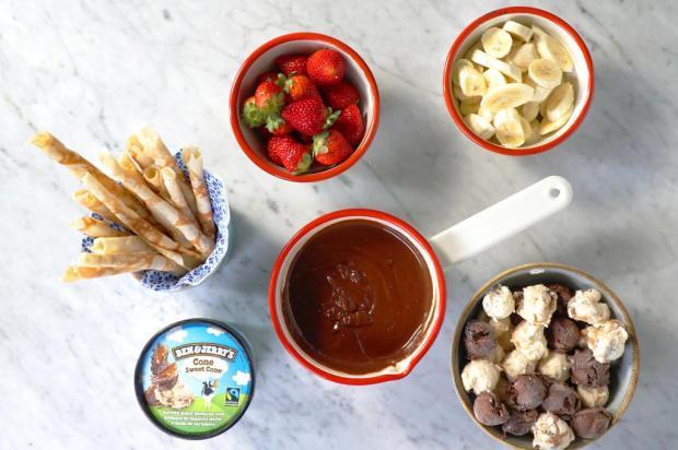 Experimente fondue de sorvete TasteMade/Divulgação