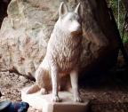Cão policial Dick, de Caxias do Sul, ganha escultura feita em pedra Giselda Bertoldo / divulgação/divulgação