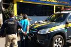 PRF encontra drogas com homem durante abordagem a ônibus em Bento (PRF/Divulgação)