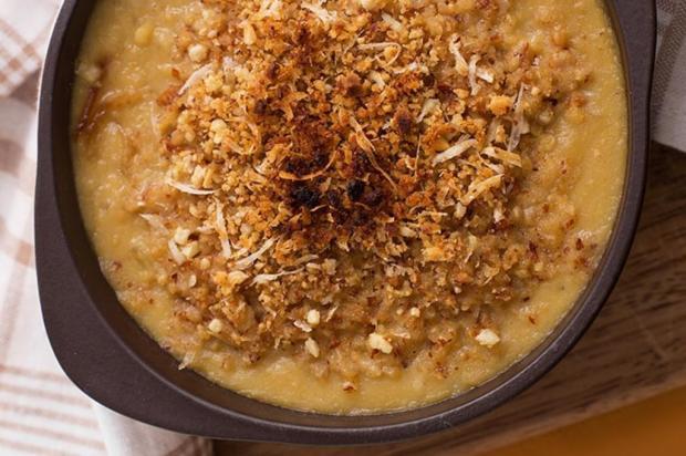 Sopa gratinada de grão de bico e cebola caramelizada Nestlé/Divulgação