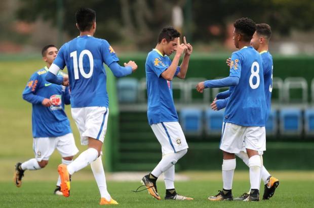 Destaque da base do Ju, atacante Pedro Arthur volta da seleção brasileira sub-15 com gol e vitória Lucas Figueiredo/CBF,Divulgação