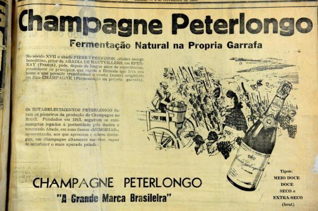 Memória: O champagne de Manoel Peterlongo Roni Rigon/Agencia RBS