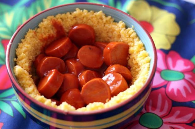 Faça cuscuz recheado com salsicha Pitadinha/Divulgação