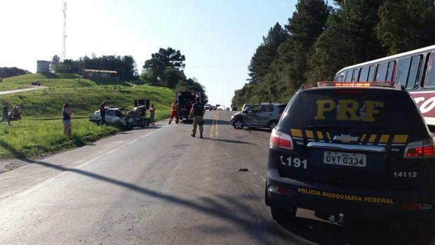 Motorista embriagado causa acidente na BR-470, em Garibaldi Polícia Rodoviária Federal  / Divulgação/Divulgação