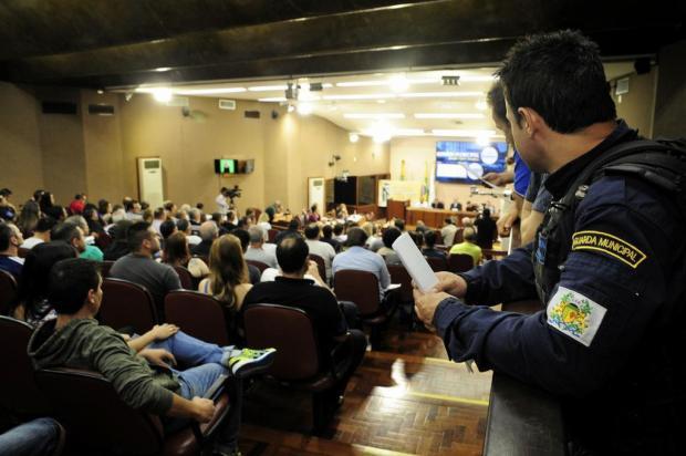 Audiência pública em Caxias do Sul é marcada pelo desejo de guardas municipais em fazer mais Marcelo Casagrande/Agencia RBS